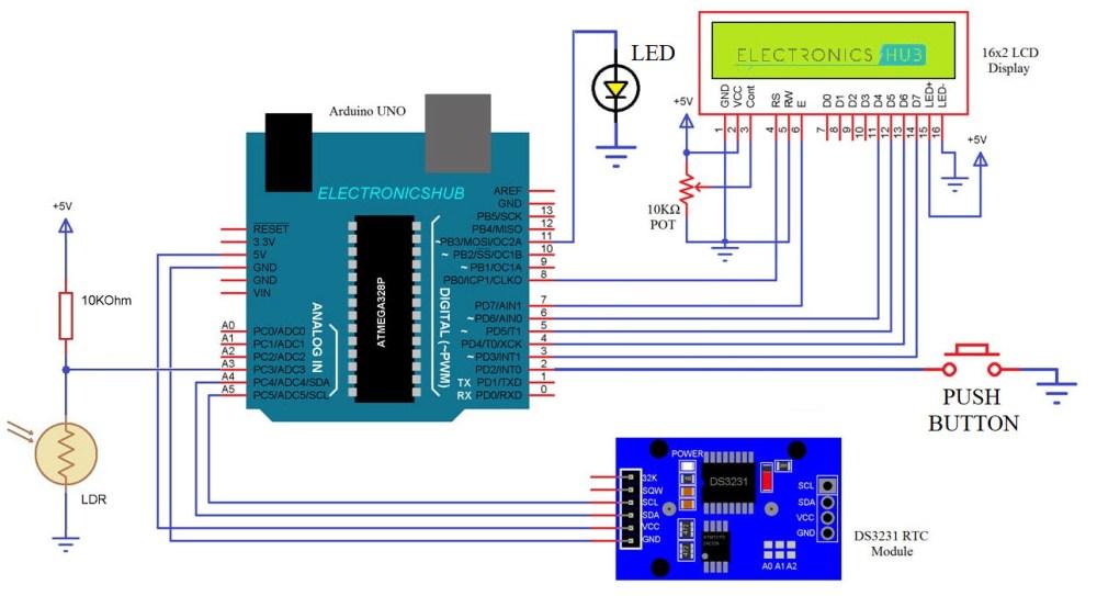 medium resolution of auto intensity control of street lights using arduino circuit diagram