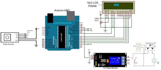 Arduino based Smartphone Charging Controller Circuit Diagram