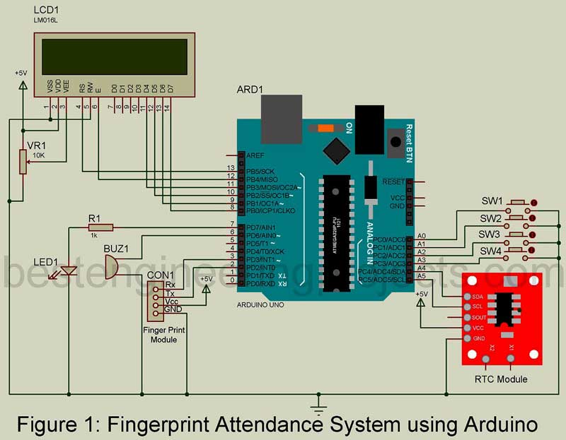 House Security Monitor System Circuit Diagram Electronic Circuits