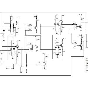 Schematic (transistor) J-K master/slave flip flop