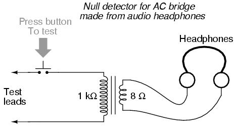 AC bridge circuits, DC measurement circuits, AC bridge