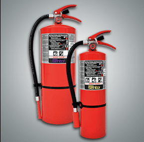 Portable Fire Extinguishers for fighting fires when they happen. (image)