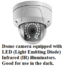 Dome camera with integral LED's (image)