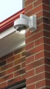 ESC-installed dome camera with video analytics. (image)