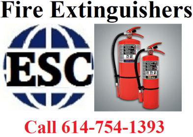 Call ESC for all your portable fire extinguisher needs. (image)