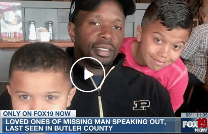 Family, police searching for Indianapolis man who disappeared in Butler Co. Relatives descended on the Tri-State area Monday to search for the missing father-of-two (image)