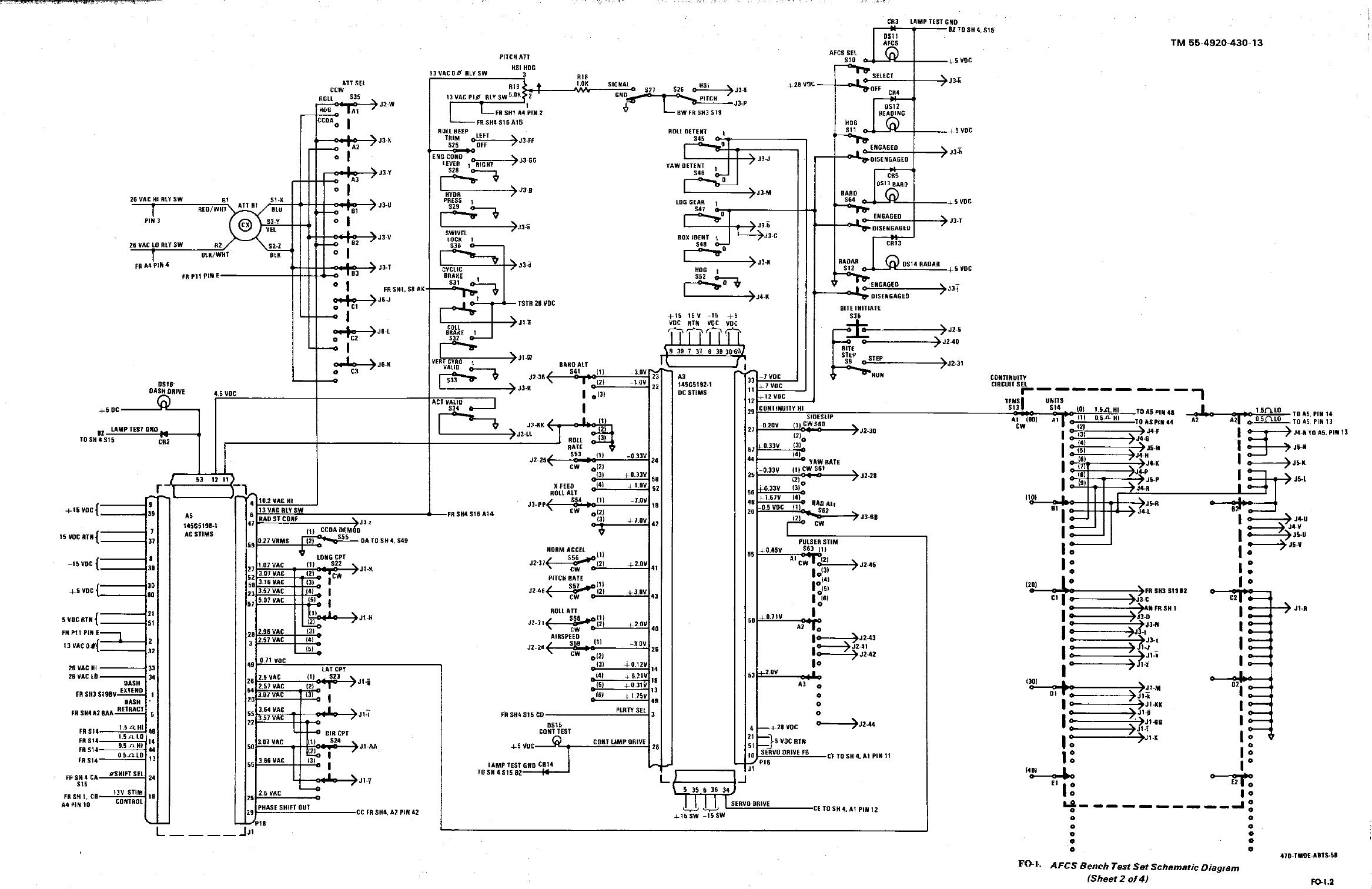 FO-1. AFCS Bench Test Set Schematic Diagram (Sheet 2 of 4)