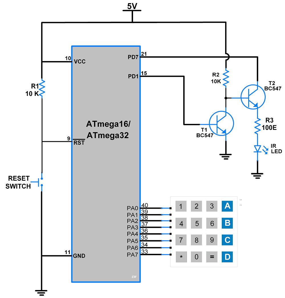 medium resolution of circuit diagram atmega16 ir serial transmitter