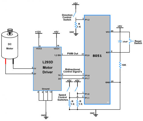 small resolution of dc motor interface with 8051 microcontroller