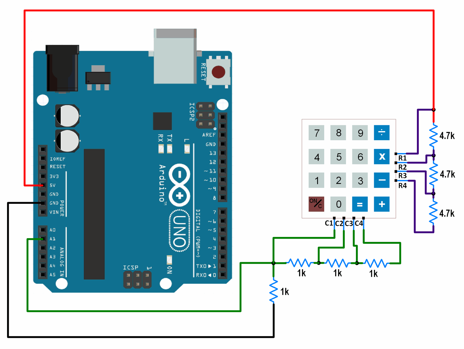 hight resolution of 1 wire interfacing of keypad with arduino