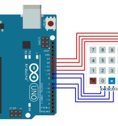 interfacing 4x4 keypad with arduino [ 1599 x 1073 Pixel ]