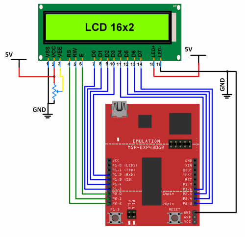 small resolution of interfacing 16x2 lcd with msp exp430g2 ti launchpad