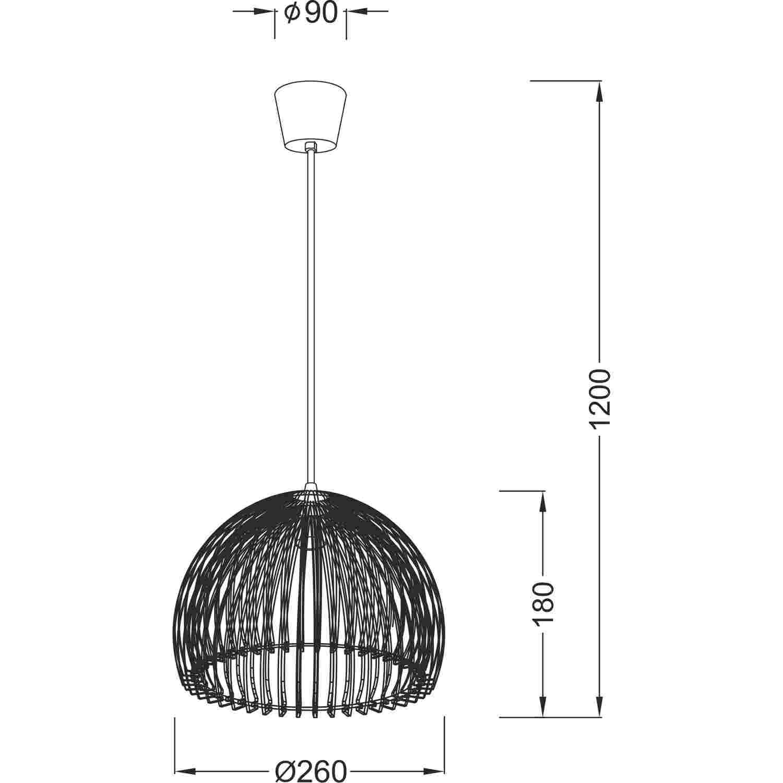 Lighting Pendant 1 Bulb Acrylic V P28bk