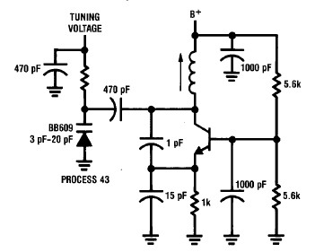 50MHz-300MHz colpitts oscillator