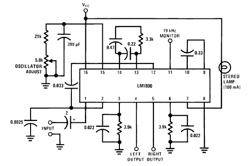 led fm tuning indicator electronic projects circuits