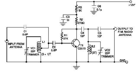 FM booster schematic circuit
