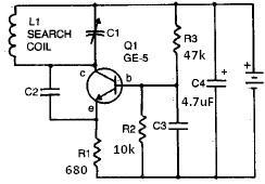 RF Metal detector schematic circuit