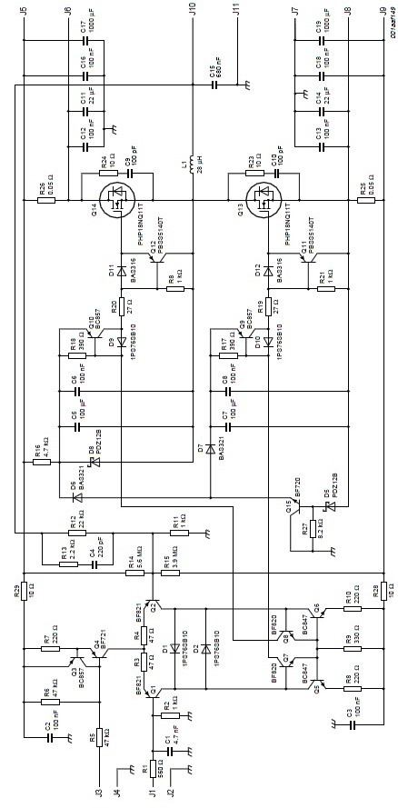 200 Watt Amp Mosfet Amplifier Schematic Using Philips