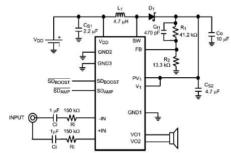 LM48510 1.2W audio amplifier
