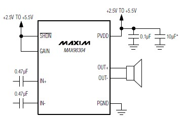 MAX98304 Class D amplifier Diagram Circuit ~ Wiring File