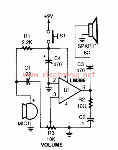 LM386 audio amplifier for voice
