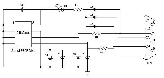 Serial EEPROM programmer circuit