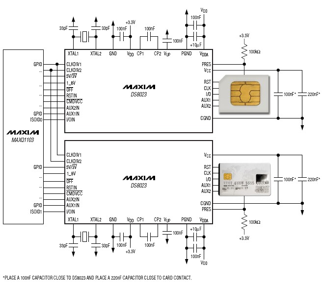 DS8023 smart card interface IC