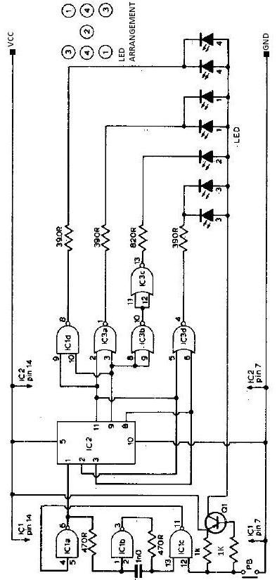 Electronic dice schematic circuit