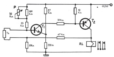 Electronic thermostat schematic circuit
