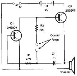 Simple Lie detector electronic circuit