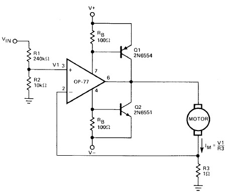Motor driver project using op amp