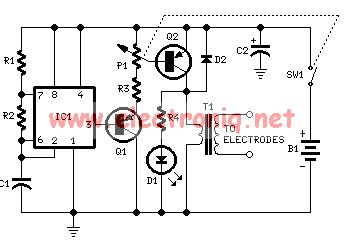 Electro muscular stimulator circuit