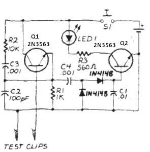 Quartz Crystal Tester circuit diagram