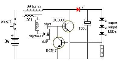 LED driver electronic project using transistors