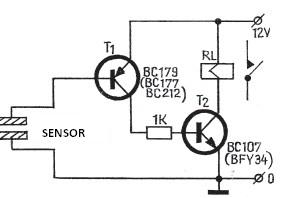 Electronic touch switch circuit
