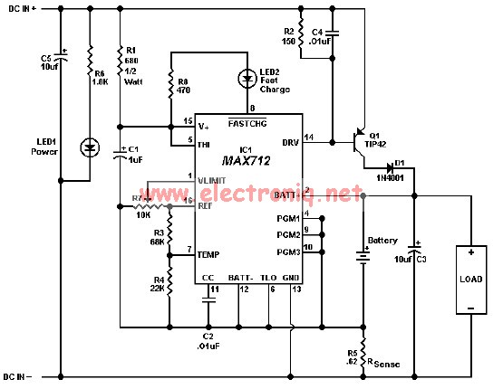 MAX712 MAX713 gel cells , NiMH , NiCd charger circuit