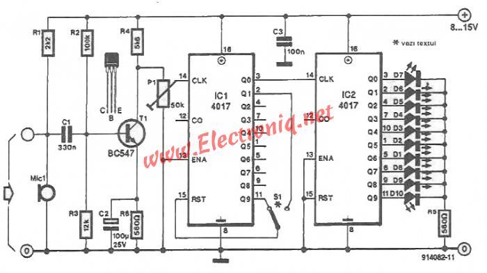 Color lights organ circuit using CMOS ics