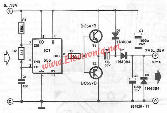555 timer voltage converter