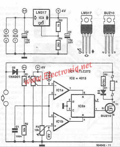 Solar panel stabilizer circuit electronic project using