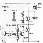 LM381 4 channel audio mixer circuit diagram project