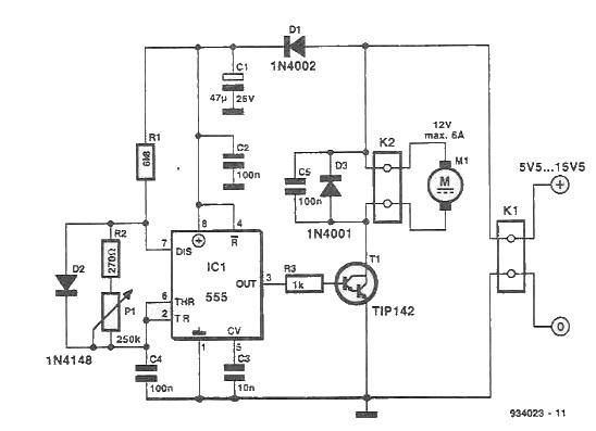 Speed regulator for DC motors