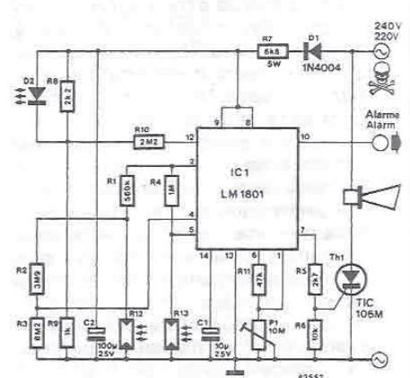 Smoke detector electronic project circuit diagram using