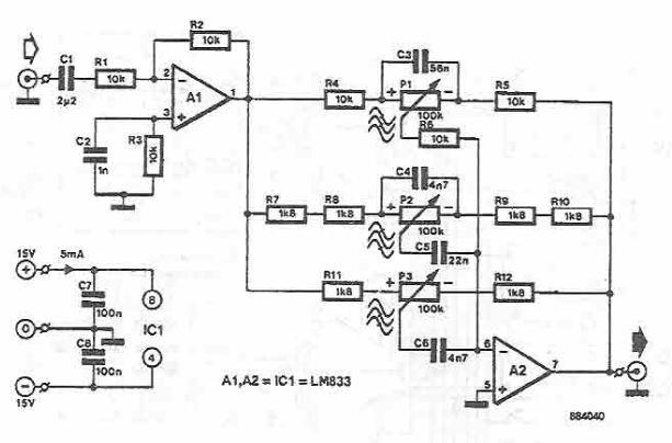 Lm833 tone correction circuit diagram