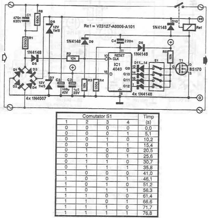 Power supply connection delay circuit