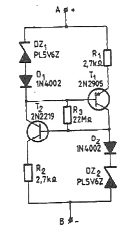Constant current source circuit 15-50V range