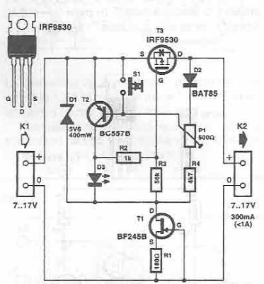 Electronic fuse with transistors