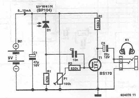 Wireless audio receiver using IR