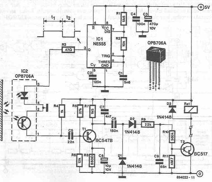555 timer optocoupler electronic circuit