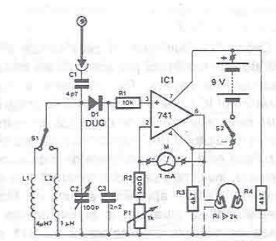 RF power detector circuit