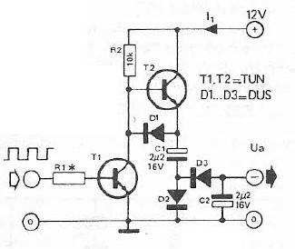 Simple voltage inverter circuit project